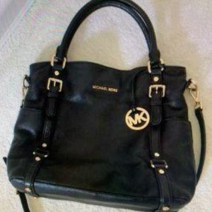 Michael Kors Excellent Black large leather Handbag